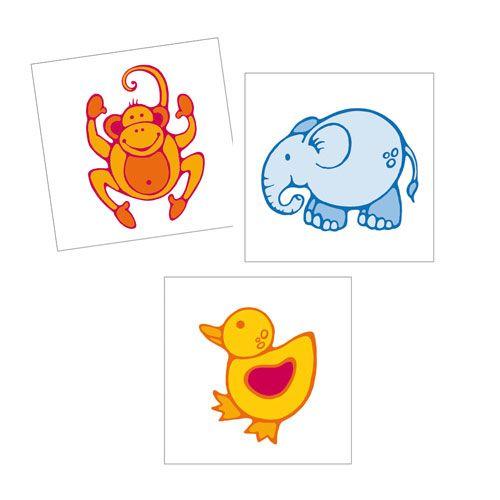 Erkennungsschilder Aufkleber-Tiere, 24er, 3,5 x 3,5 cm