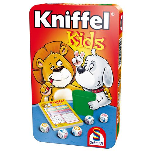 Kniffel Kids Mitbringspiel in der Metalldose