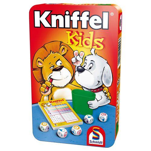Kniffel Kids Mitbringspiel in der Metalldose