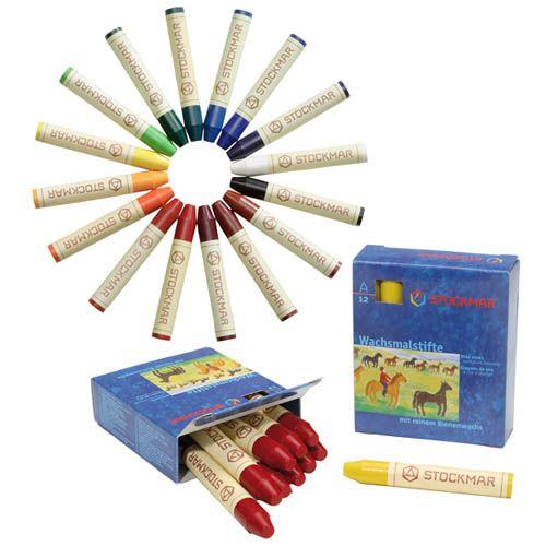 Stockmar Wachsmalkreide, 24 Farben, großes Sortiment