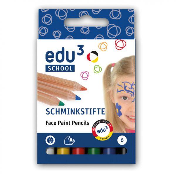 edu³ Schminkstifte, 6 Stk.