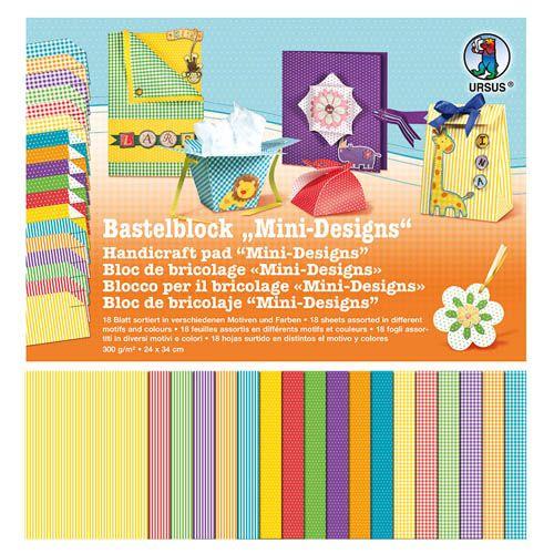 Bastelblock Mini-Designs, 24 x 34 cm, 18 Blatt