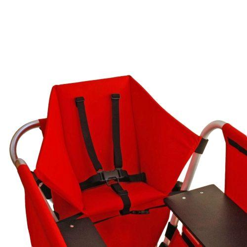 Kindersitz für Rambler Krippenwagen Explorer, rot