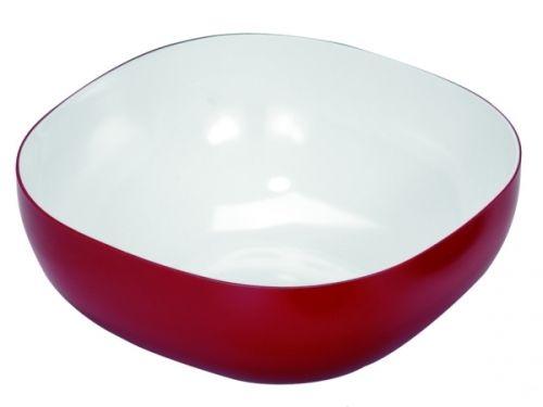 Schale 4,0 Liter rot/weiß