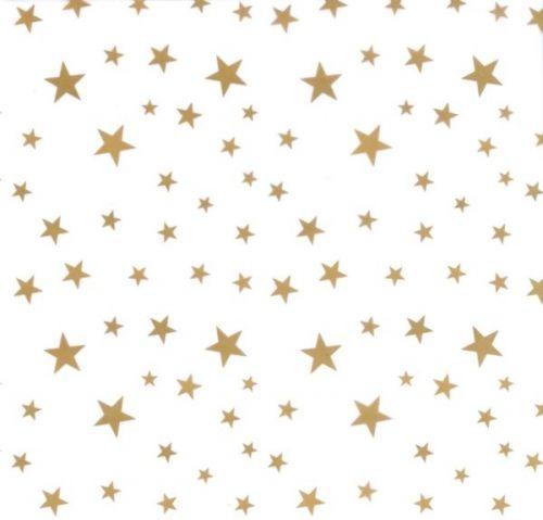 Transparentpapier Sternchen weiß, 50 x 61 cm, 10 Bogen