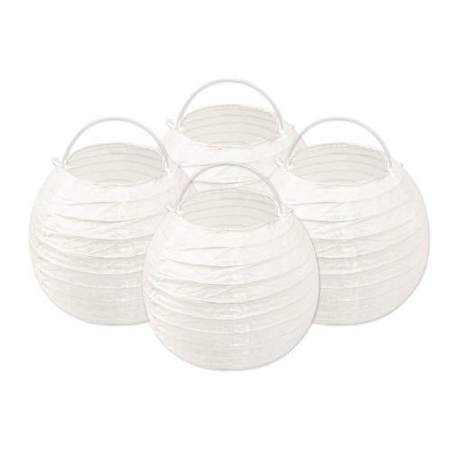 Papierlampions weiß, Ø ca. 15 cm, 4er Set