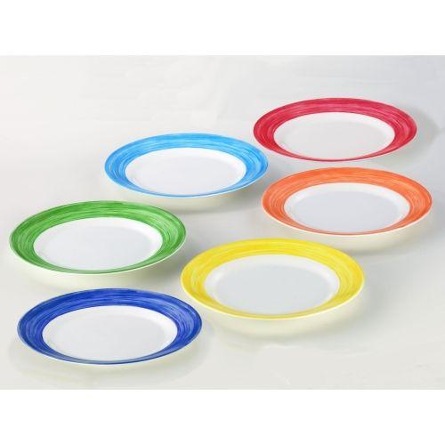 Teller flach, Ø 25,4 cm, 6 Stk. pro Farbe