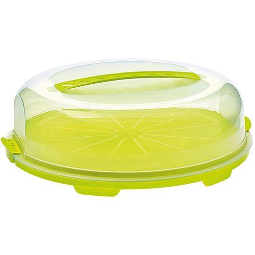 Tortenbehälter Fresh flach, 35,5 x 34,5 x 11,6 cm