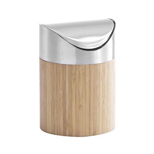 Tischabfallbehälter Bamboo, Ø 12 x 17 cm