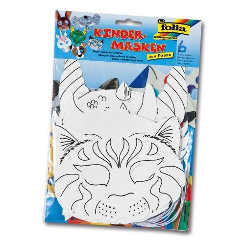Kindermasken, 6er Set sortiert