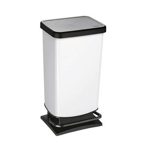 Treteimer PASO weiß, 40 Liter