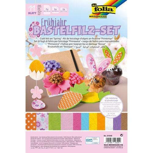 Bastelfilz-Set Frühjahr, 11 Blatt