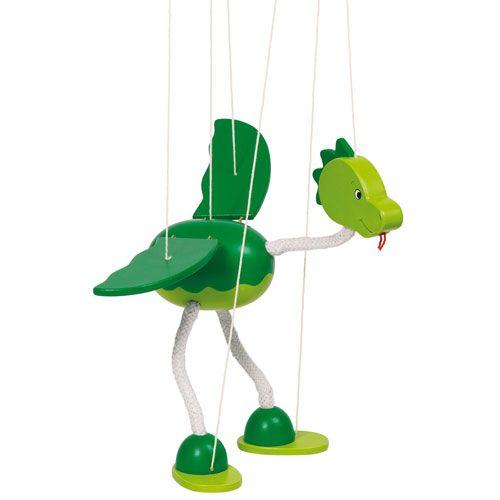 Marionette Dinosaurier Nepomuk, 27 cm