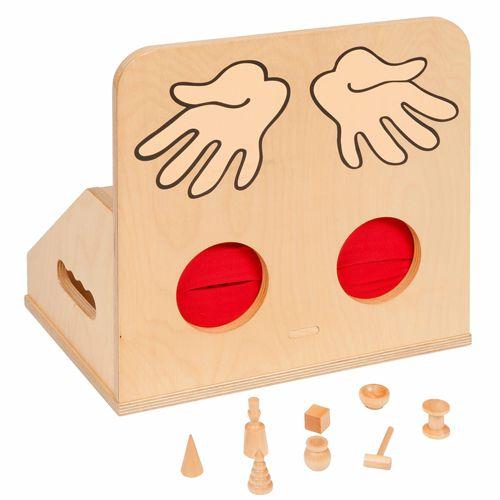 Fühl-Kiste Holz