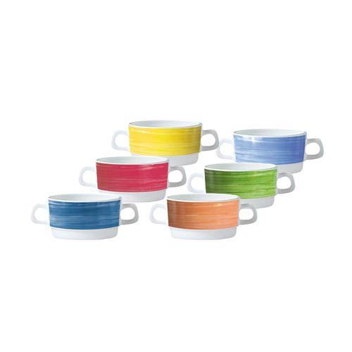 Suppentasse mit Henkel, Höhe 5,4 cm, 6 Stk. pro Farbe