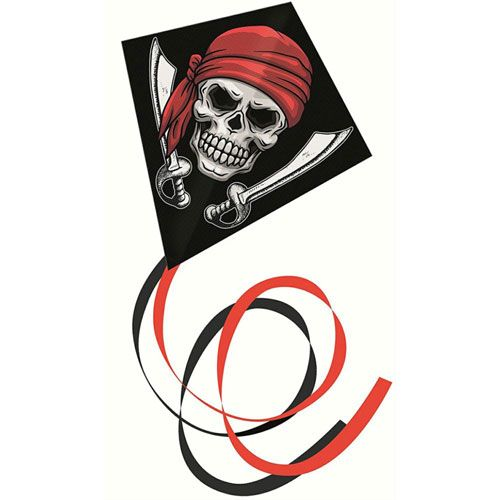 Pirat Einleinerdrachen, 70 x 70 cm