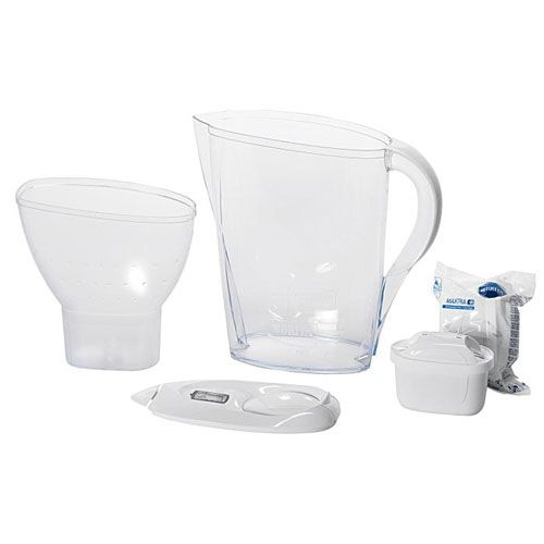 Wasserfilter, weiss, 2,4 l Volumen