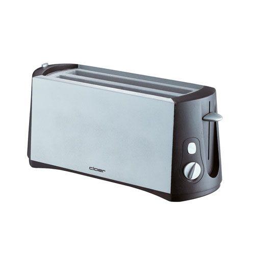 Toaster, für 4 Toastscheiben, 1285 Watt, chrom matt/schwarz