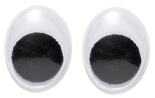 Wackelaugen oval, 15 x 11 mm