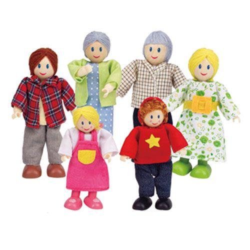 Puppenfamilie-Helle Hautfarbe