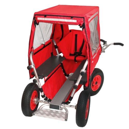 Verdeck für Rambler Krippenwagen, rot