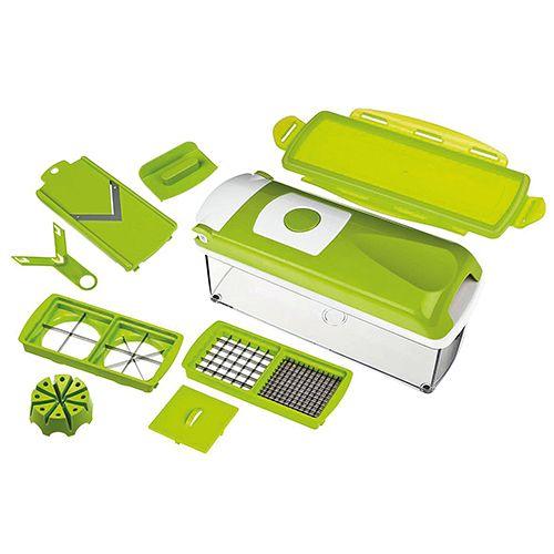 Nicer Dicer Plus, Set 10-teilig, grün