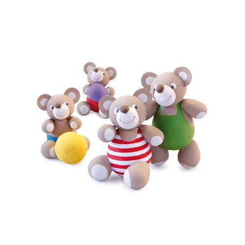 Wattekugeln Kreativa Bastelset Nr. 18XL - Teddybären XL