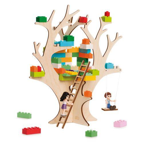 3D Puzzle für Bausteine Baumhaus