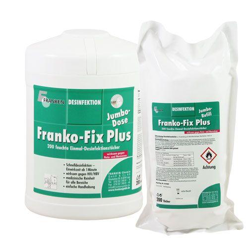 Franko-Fix Plus Jumbo Dose und Nachfüllpackung, 19 x 26 cm, 400 Tücher