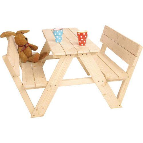Kindersitzgarnitur Nicki für 4 mit Lehne