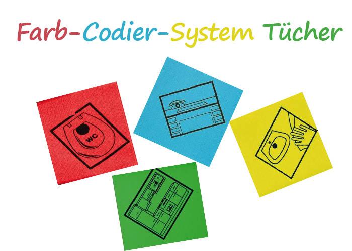 Farb-Codier-System Tücher