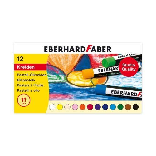 Eberhard Faber Pastell Ölkreide, 12er Sortiment