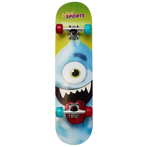 New Sports Skateboard Cyclops, LED Räder, L78 cm