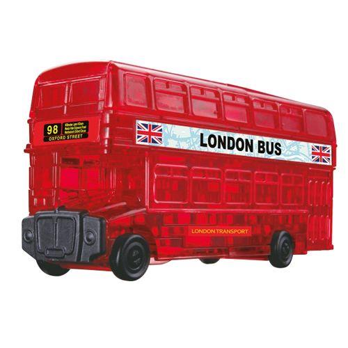 Puzzle 3D Crystal London Bus, 53 Teile