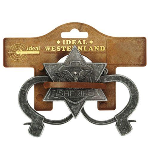 Sheriff Set, 2teilig, antik, Tester