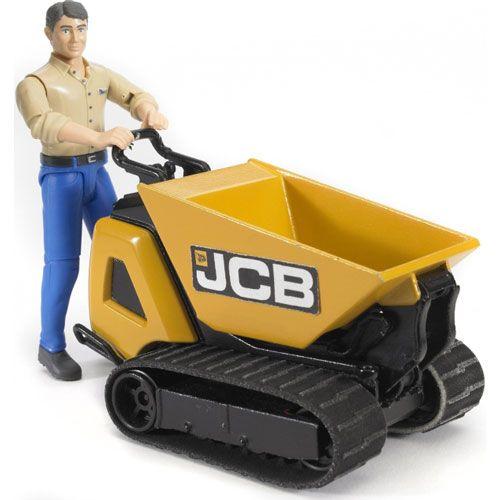Bruder JCB Dumpster HTD-5 und Bauarbeiter