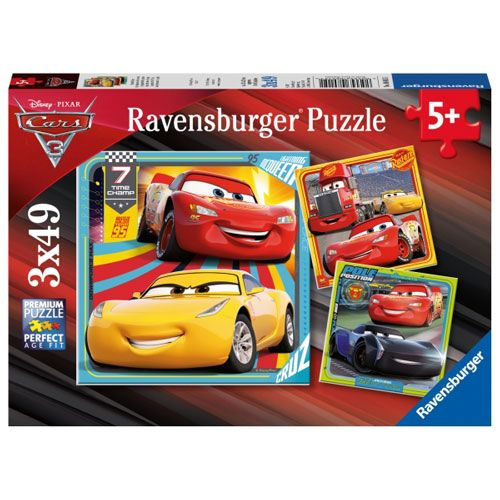 Puzzle: Cars 3 Bunte Flitzer, 3 x 49 Teile