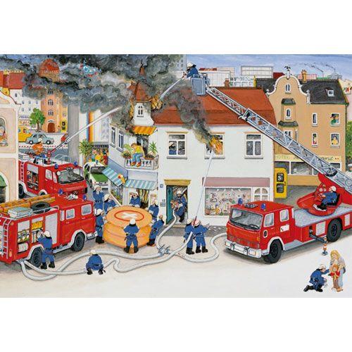 Puzzle: Bei der Feuerwehr, 2 x 24 Teile