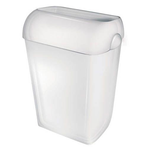 Abfallbehälter PQA43, 43 Liter, weiß halb offen