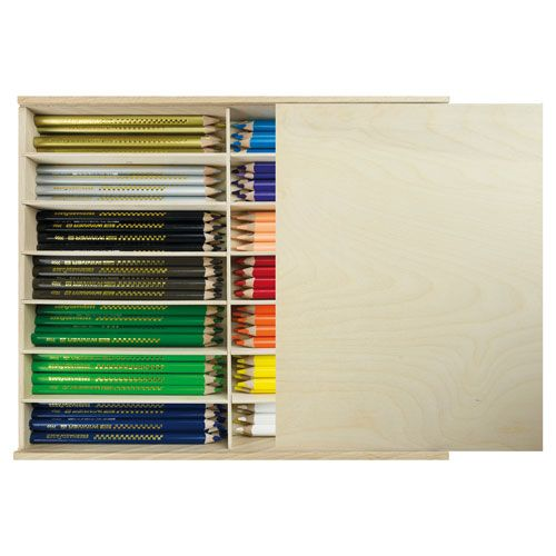 Tri Winner Holzbox mit 114 Stiften