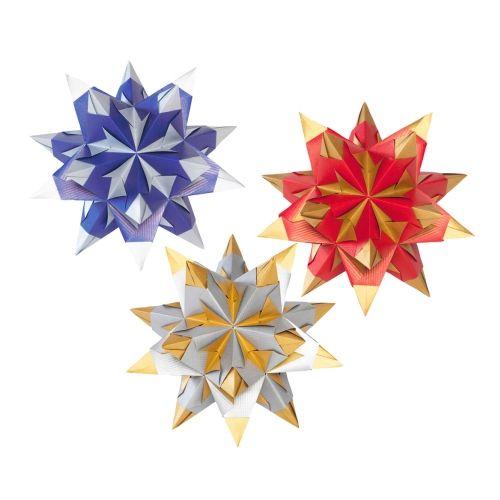 Bascetta Stern Set, zweifarbig, 20 x 20 cm = 30 cm Ø