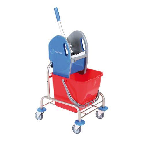 Eineimer- Edelstahl- Reinigungswagen