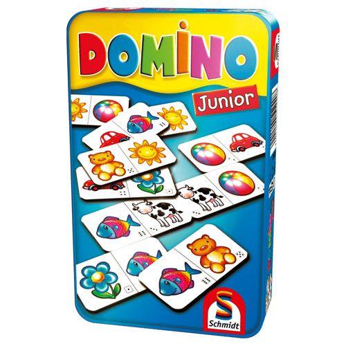 Domino Junior Mitbringspiel in der Metalldose