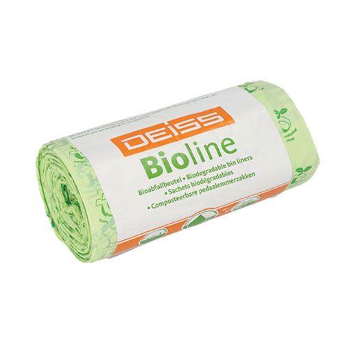 Biofolien Abfallbeutel, 60 Liter, Rolle mit 10 Beutel