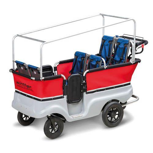elektrischer krippenwagen winther e turtlebus f r 6 kinder mit elektromotor krippenfahrzeug. Black Bedroom Furniture Sets. Home Design Ideas