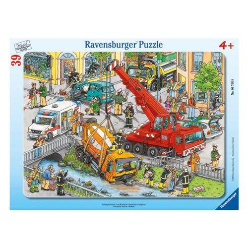 Rahmenpuzzle Rettungseinsatz, 39 Teile