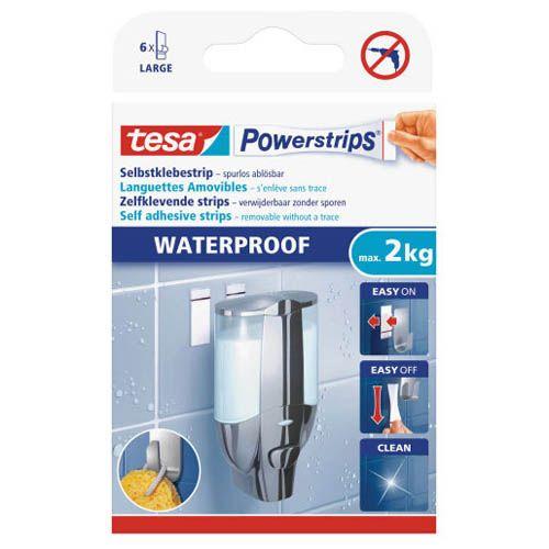 tesa Powerstrips large, waterproof, 6 Stk.