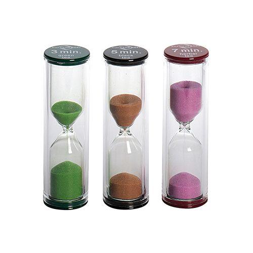 Sanduhr Tea-Time, Ø 2,3 cm, H 8cm, 3er Set