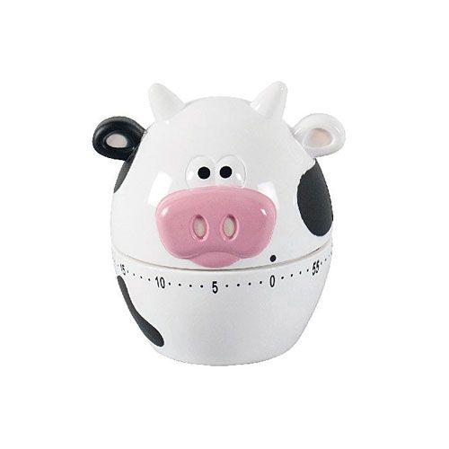 Kurzzeitmesser Kuh, H 8,6 cm, mechanisch