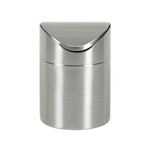 Tischabfallbehälter Edelstahl, H 16 cm